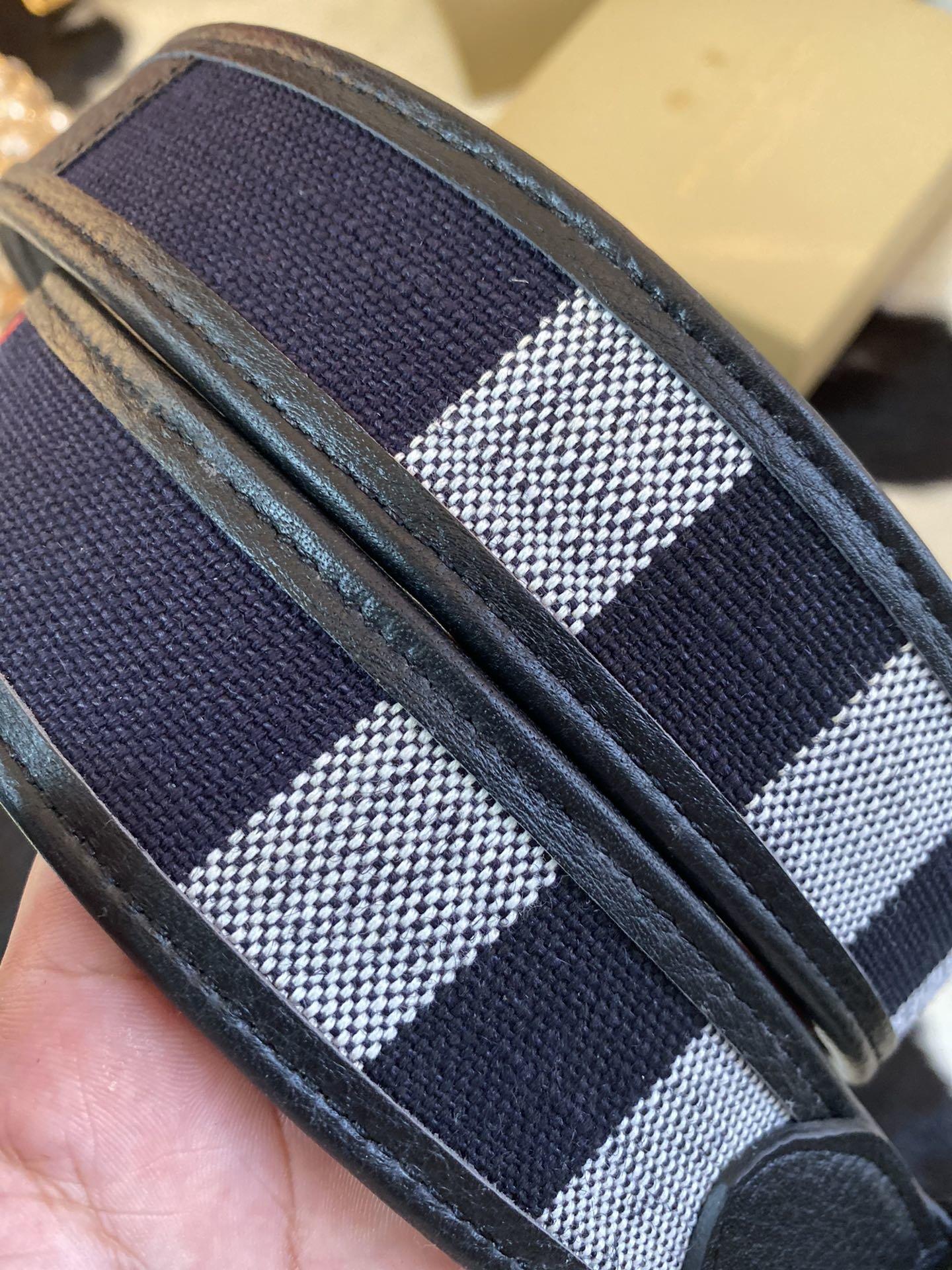 Burbbrrry巴宝莉 帆布系列 复古扣腰带(图4)