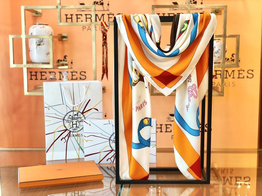 Hermes殿堂级御用丝绒大方巾(图9)