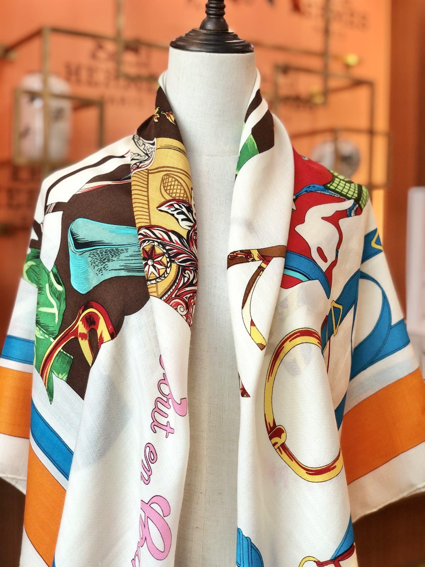 Hermes殿堂级御用丝绒大方巾(图10)