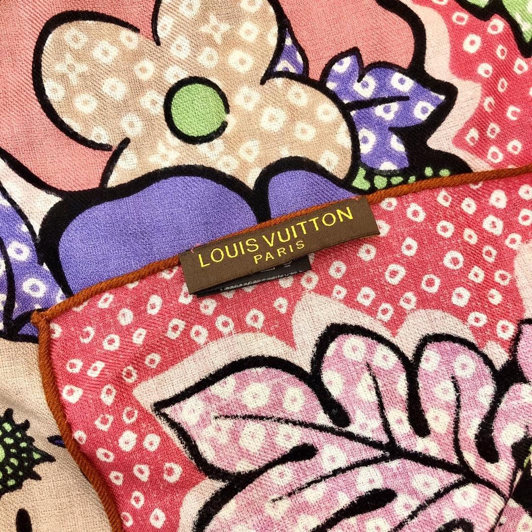 Louis Vuitton  LV围巾 提花印花 专柜同款(图7)