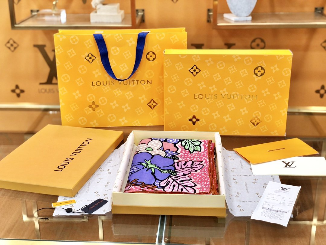 Louis Vuitton  LV围巾 提花印花 专柜同款(图5)