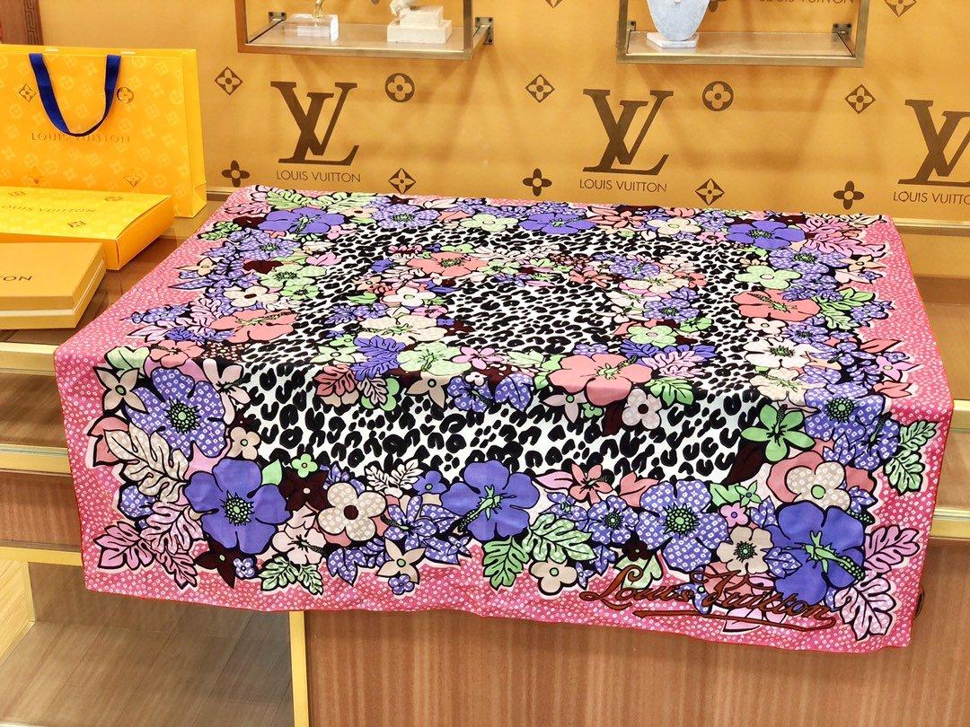 Louis Vuitton  LV围巾 提花印花 专柜同款(图4)