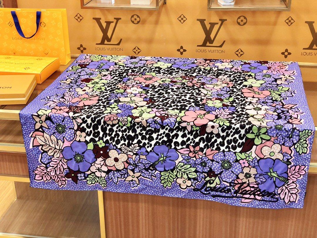 Louis Vuitton  LV围巾 提花印花 专柜同款(图3)