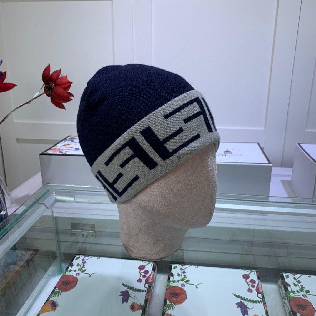 芬迪FENDI针织帽羊绒材质官网新品