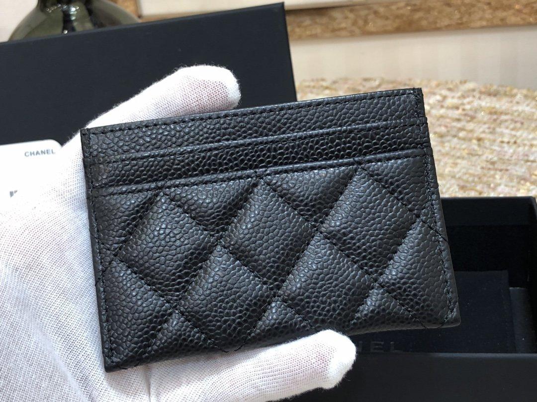 CHANEL新品 限量复古CC 荔枝纹牛皮 片式卡包 (图6)