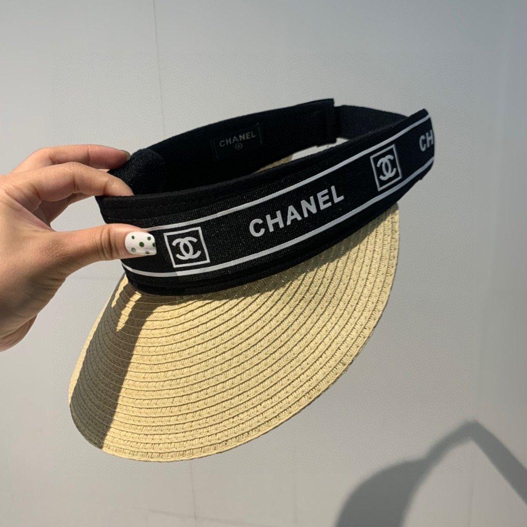 Chanel香奈儿空顶草帽网红爆款遮