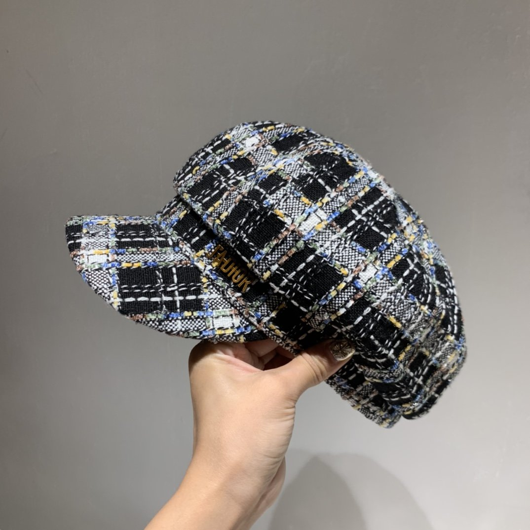 Dior迪奥2020秋款八角帽贝蕾帽