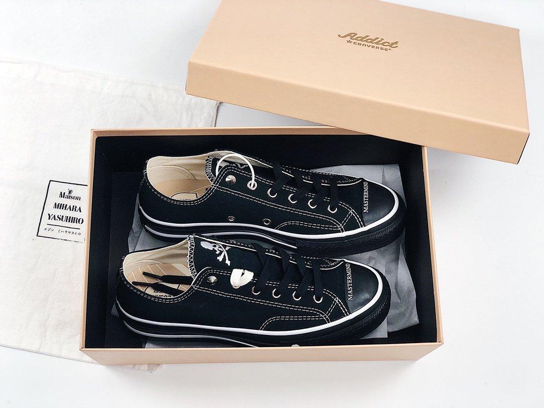 高仿匡威玩家心中  日本限定推荐 骷髅头mastermind JAPAN x Converse Addict MMJ联名低帮帆布鞋