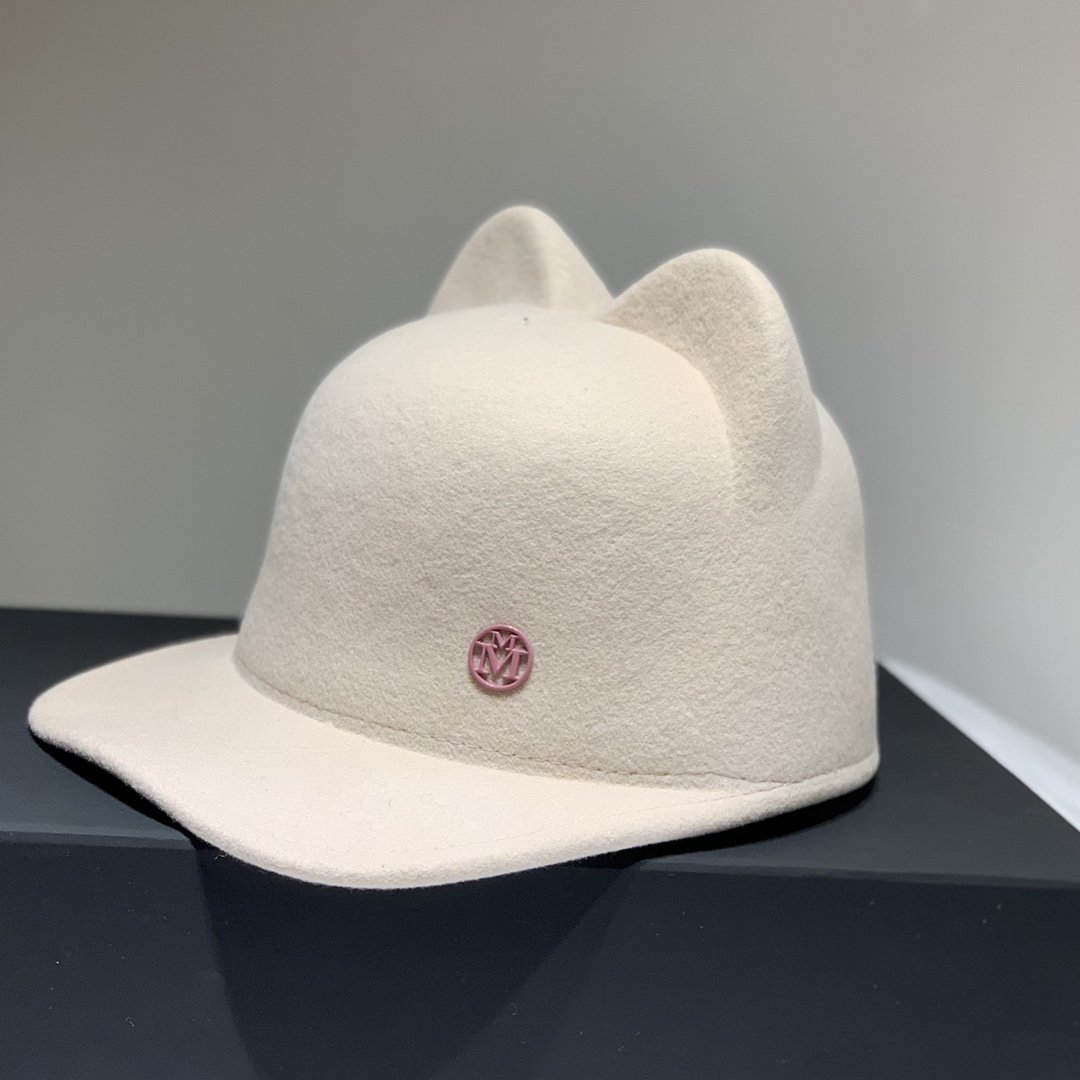香奈儿旗下M牌骑士帽百分百羊绒面料超