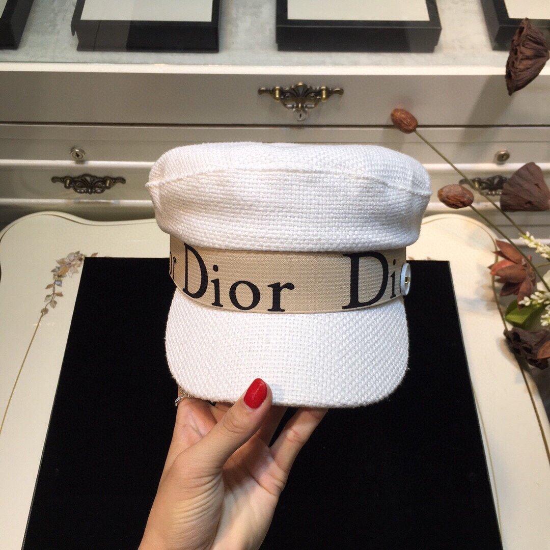 上新Dior迪奥原单Dior海军帽早