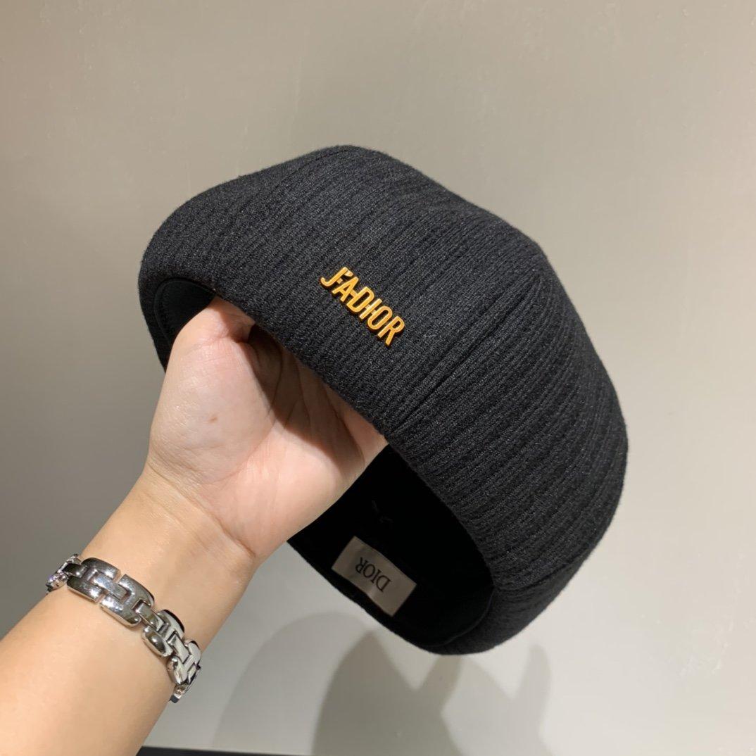 Dior迪奥新款条纹贝蕾帽南瓜帽百搭