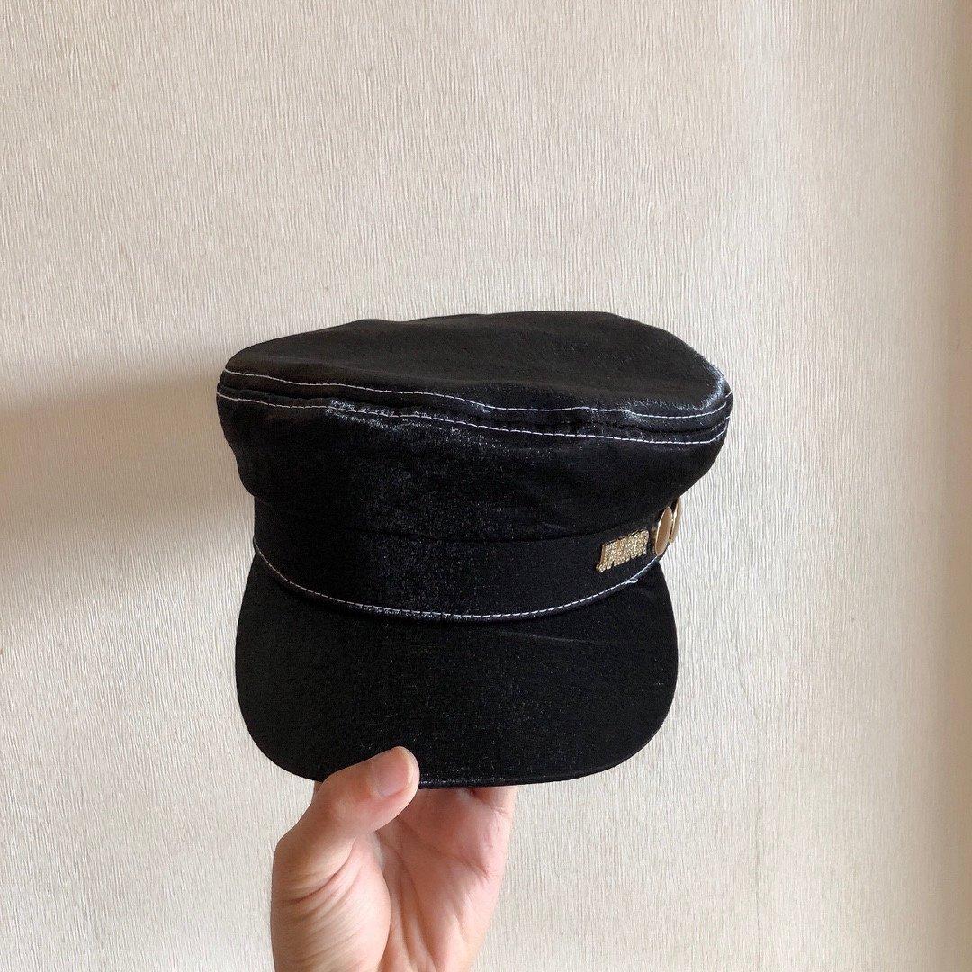 Dior新品皮海军帽立体帽型时尚百搭