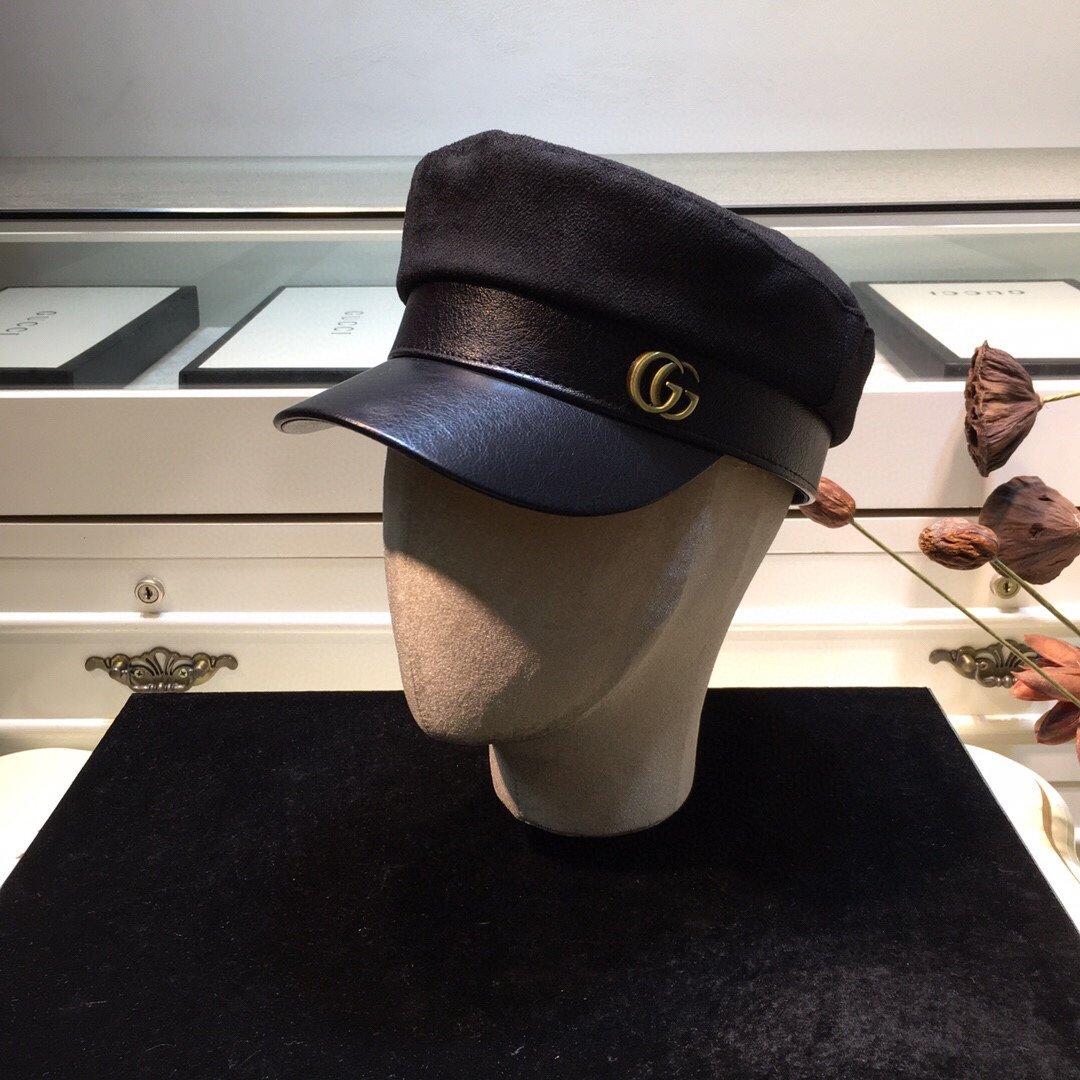 上新古奇GUCCI原单G家海军帽秋季