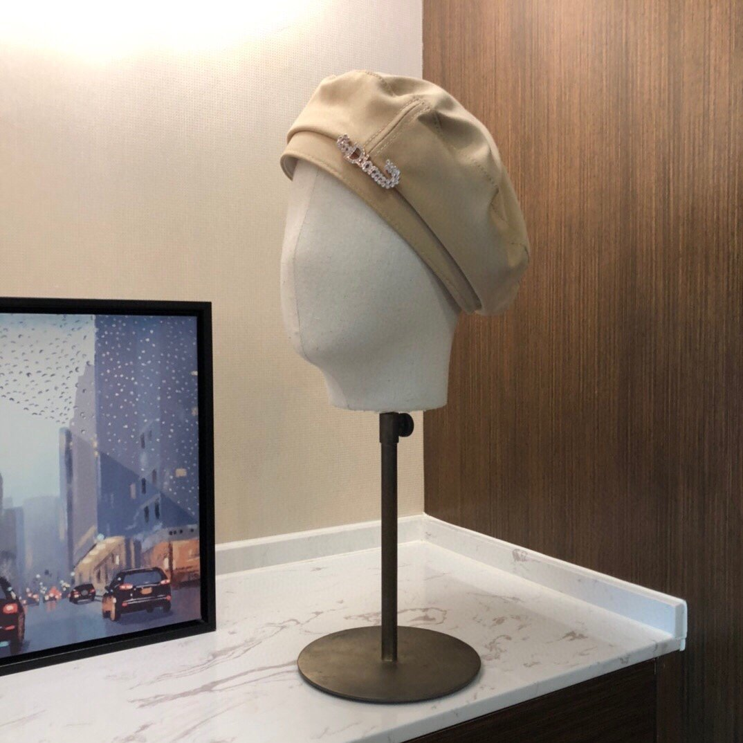 Dior迪奥贝雷帽秋款小香风海军帽当