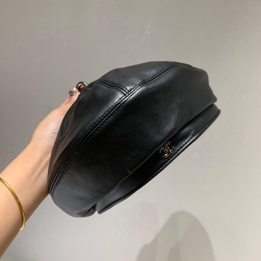 Chanel小香洗水皮贝蕾帽众多明星