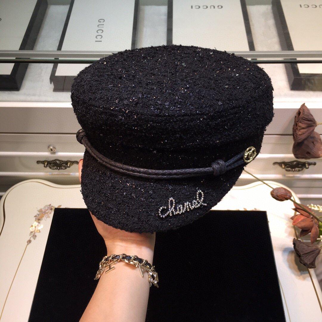 上新CHANEL香奶奶军帽精致高端定