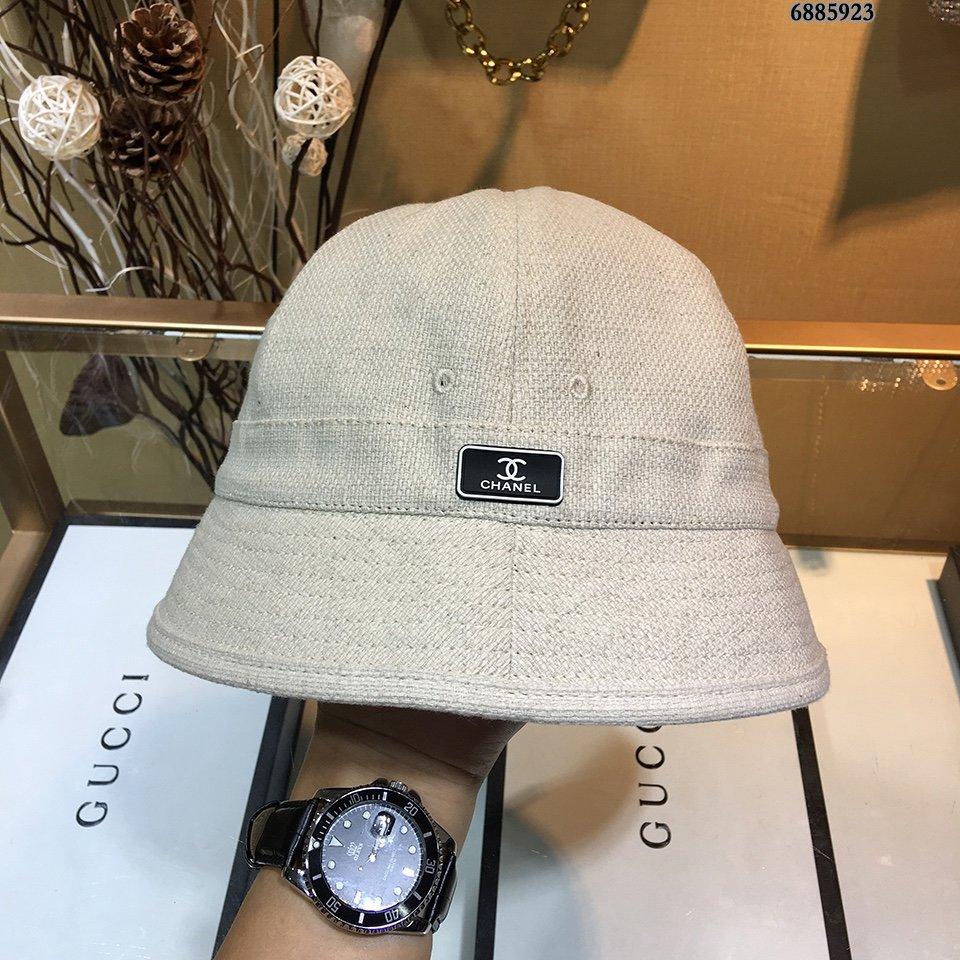 香奈儿Chanel厚麻渔夫帽圆顶渔夫