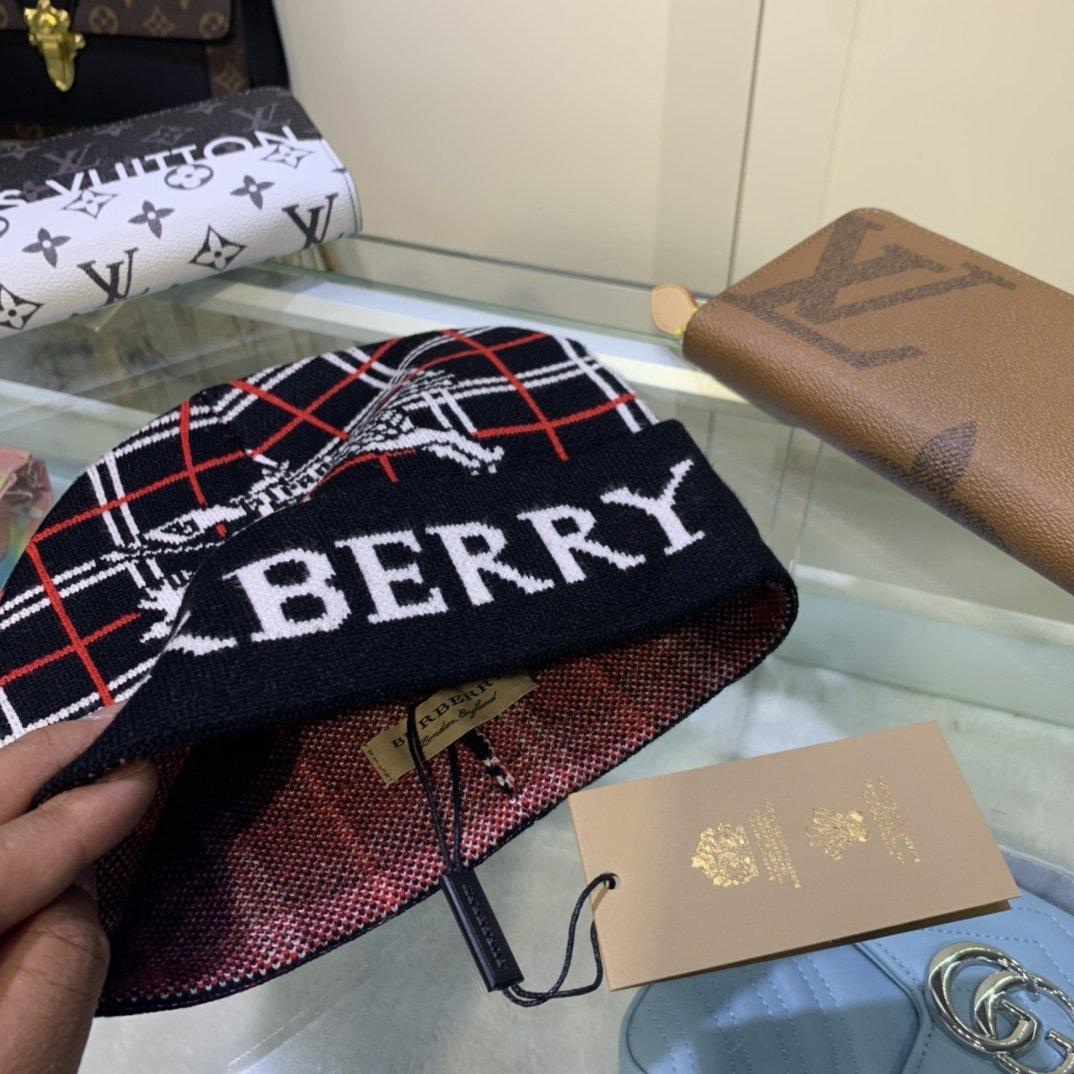 Burberry巴宝莉官网针织帽羊绒