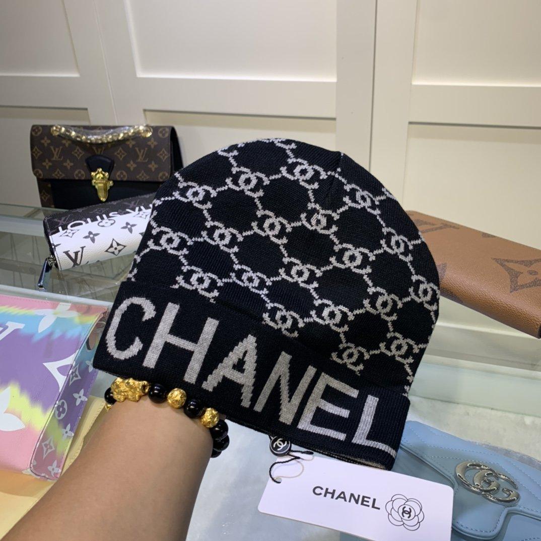 香奈儿CHANEL羊绒针织毛线帽时尚