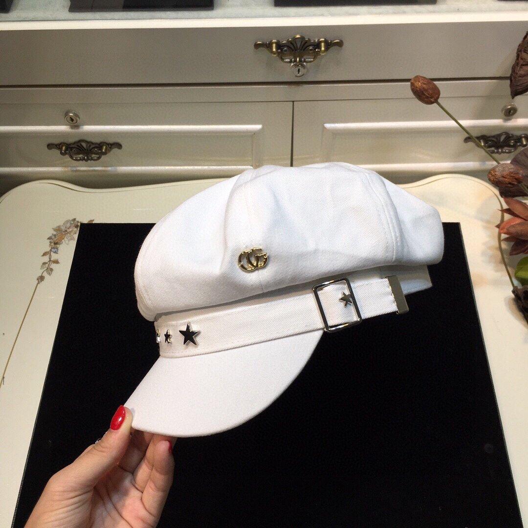 上新古奇GUCCI新款八角帽立体帽型