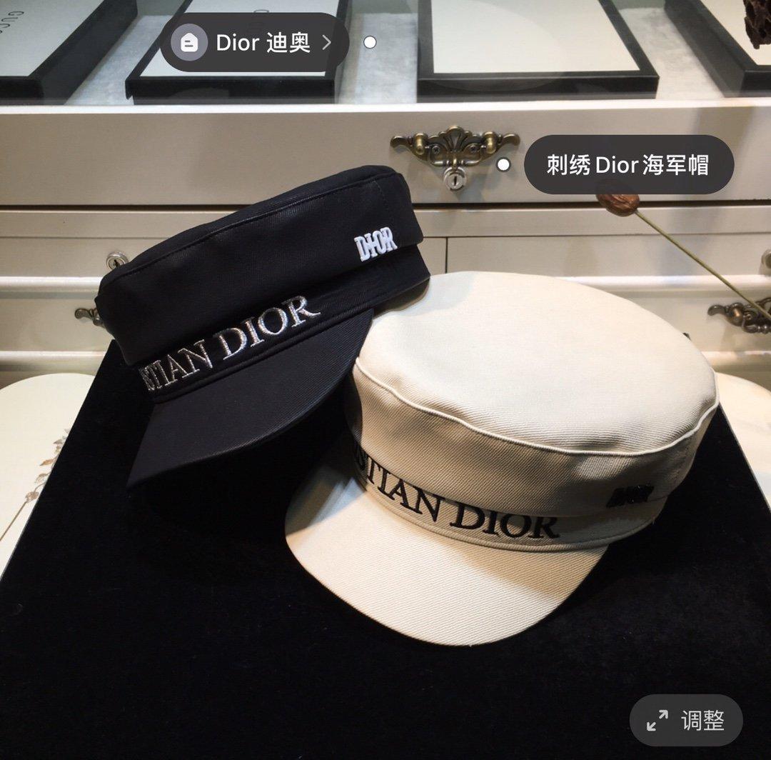 上新Dior迪奥新款刺绣Dior军帽