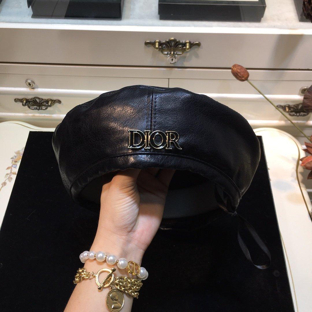 Dior迪奥字母贝雷帽画家帽八角帽欧