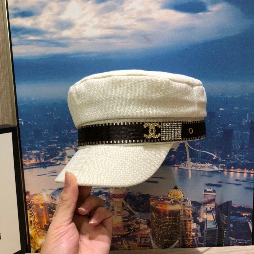 Chanel香奈儿新款织带麻料透气军