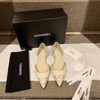 顶级品质原版开发Chanel侧空高跟鞋全系列发售上脚无敌气质两个高度7CM和平底可以选择!黑色皮和奶茶色皮都是...