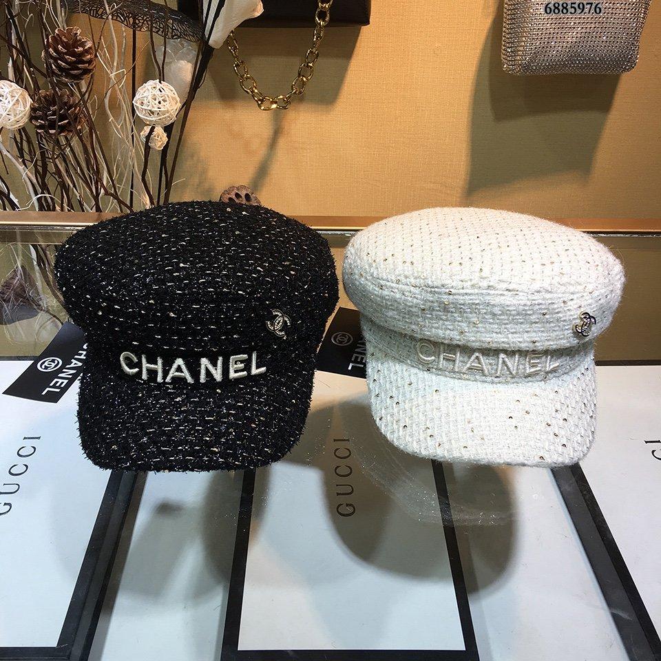 Chanel香奈儿毛呢贝蕾帽专柜同步