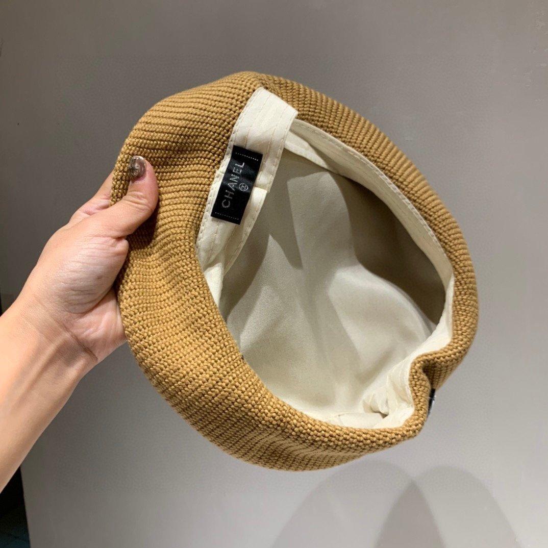 Chanel香奈儿早秋新款针织贝雷帽