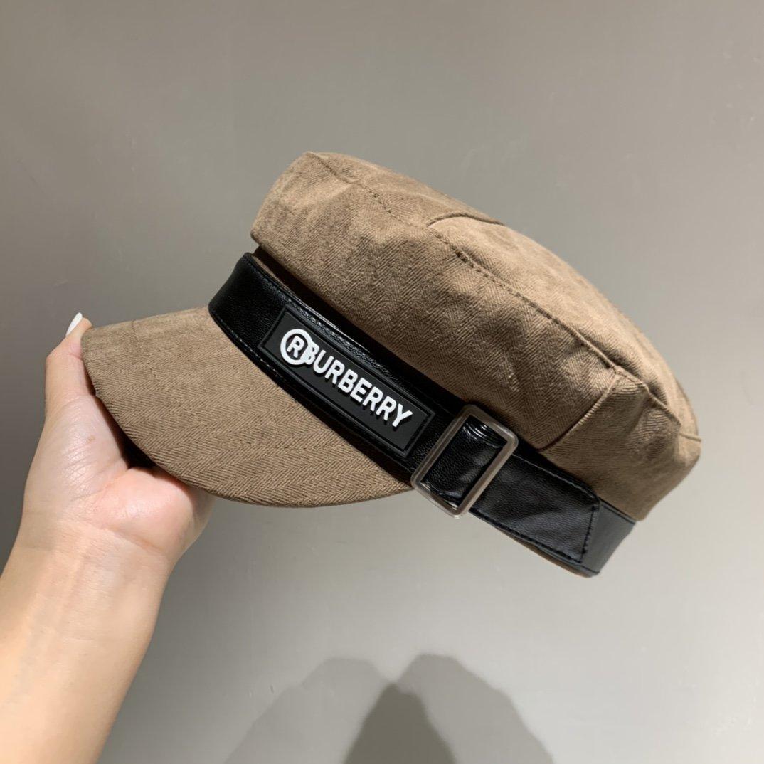 巴宝莉Burberry简约时尚军帽帽