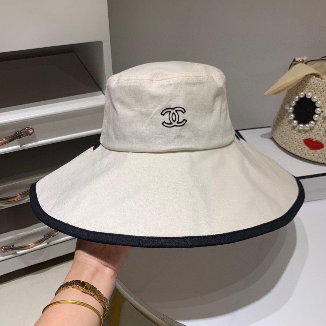 Chanel香奈儿原单渔夫帽遮阳帽网