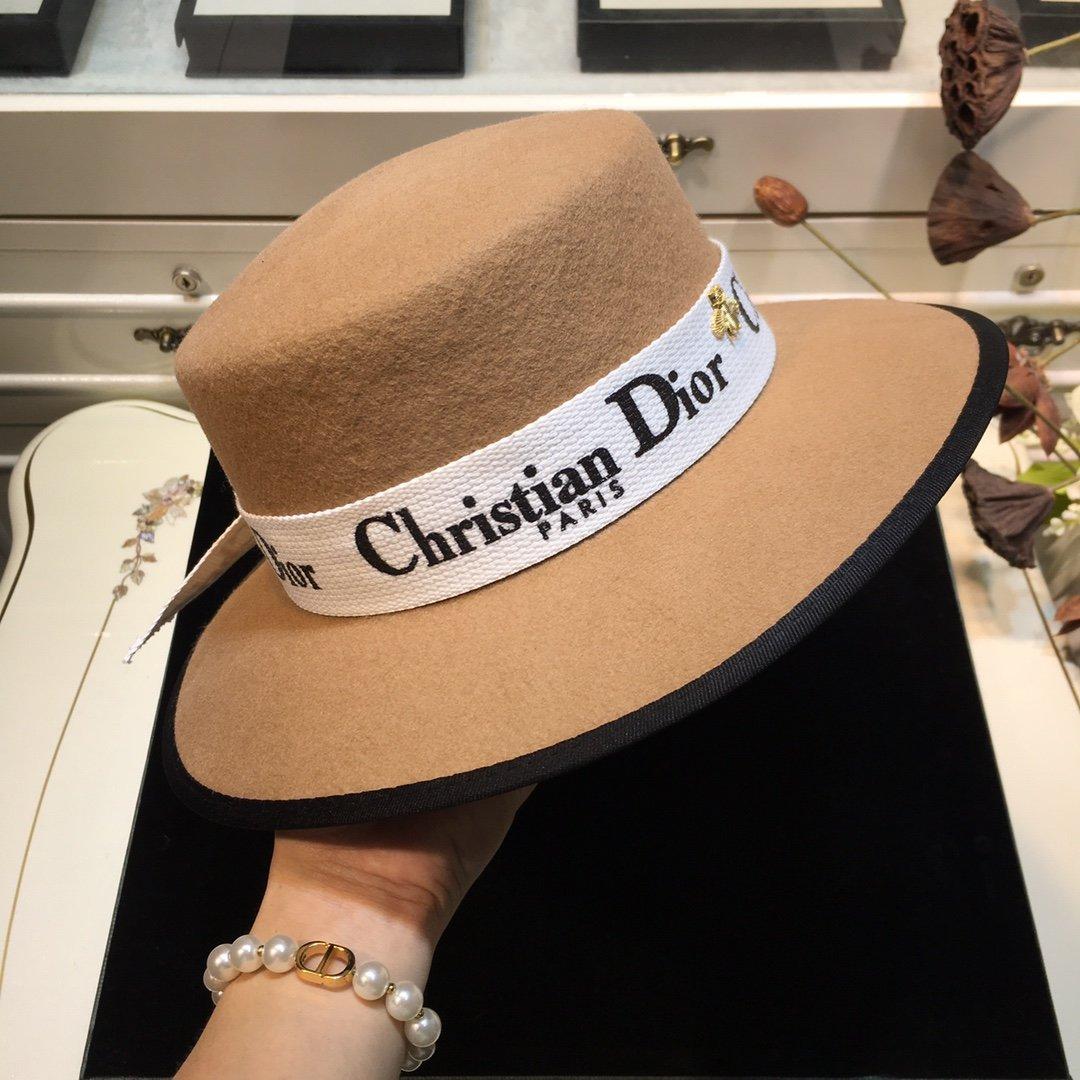 上新Dior迪奥平顶礼帽平顶羊毛独家