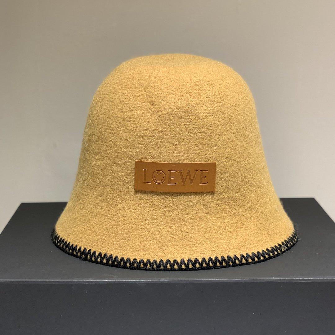 LOEWE罗意威羊毛渔夫帽大牌范圆顶