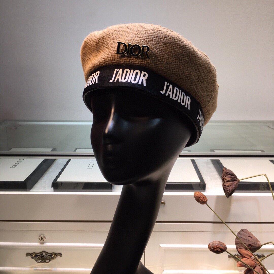 上新DIOR迪奥针织贝雷帽超显脸小超
