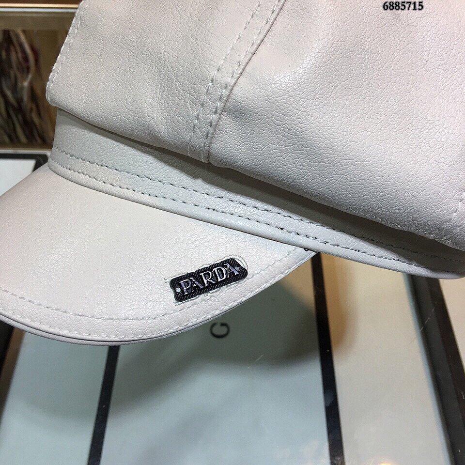 普拉达PRADA皮八角帽众多明星同款