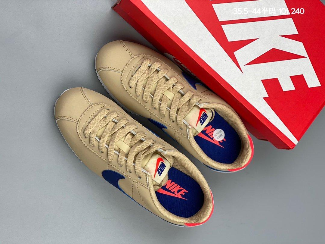 """集合图310耐克 Nike Classic Cortez Leather 阿甘复古初代皮革慢跑鞋""""饱满鞋头货号:905614"""