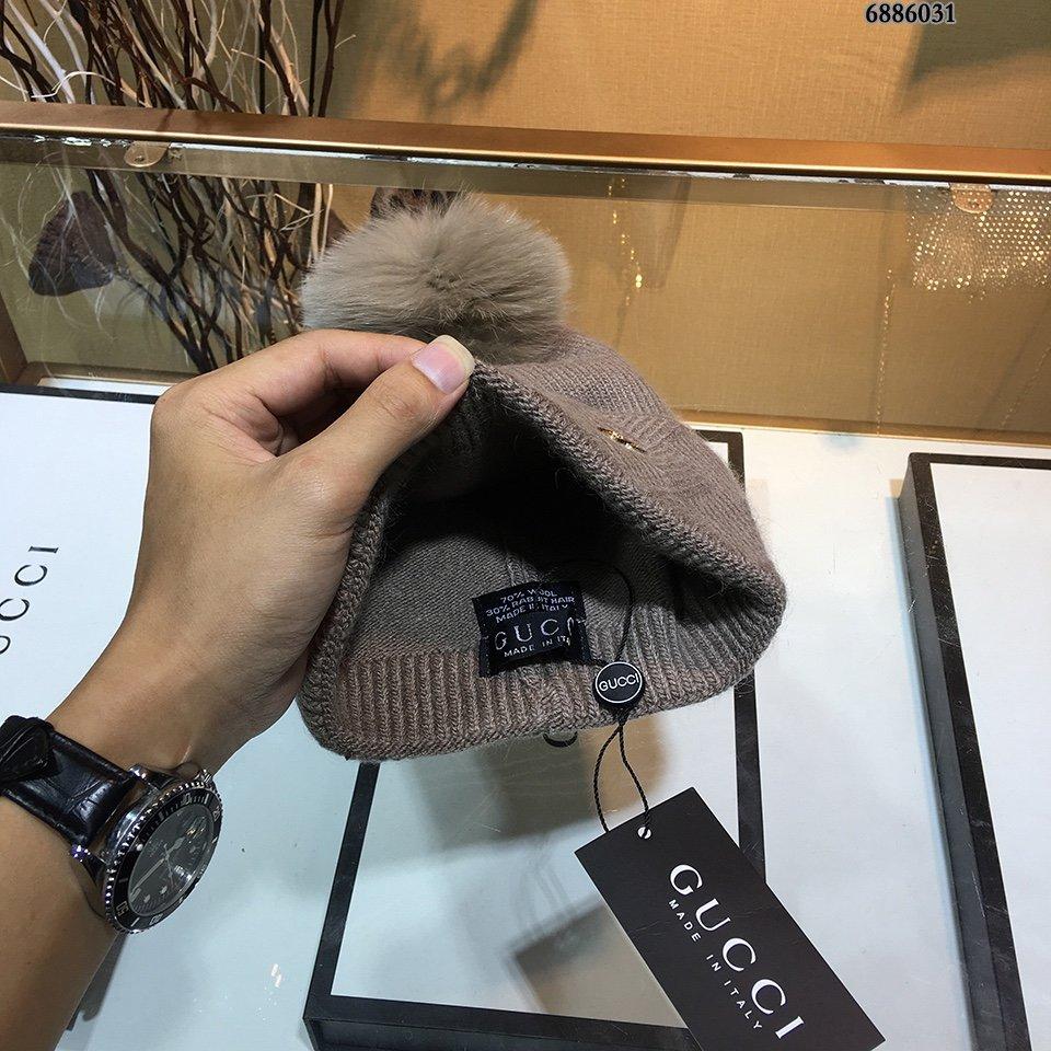 古奇Gucci羊毛毛线帽简约大气毛线