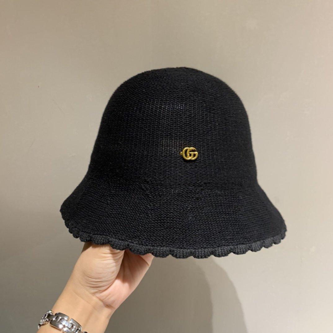 Gucci古奇20早秋新款针织渔夫帽
