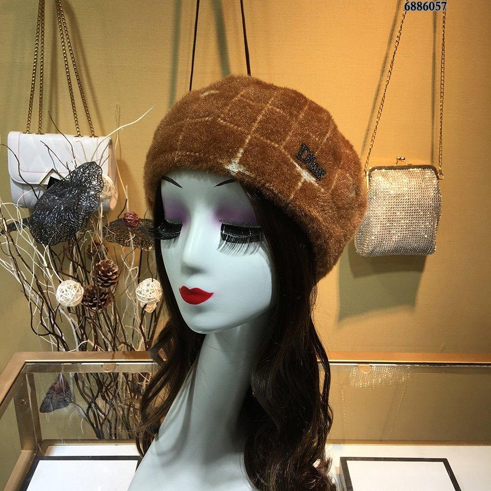 Dior迪奥秋冬贝蕾帽毛绒定制!设计