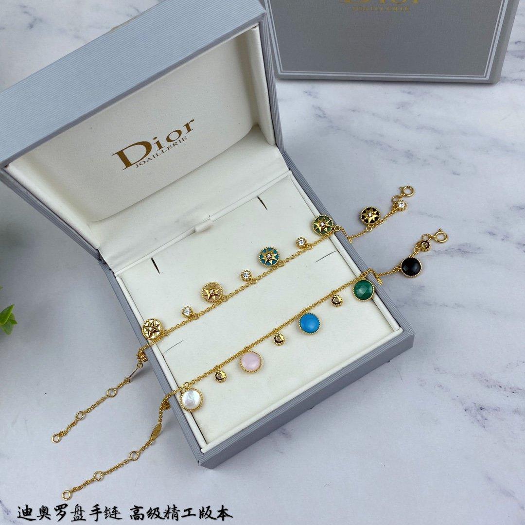 新款迪奥杂色罗盘手链双面迪奥Dior