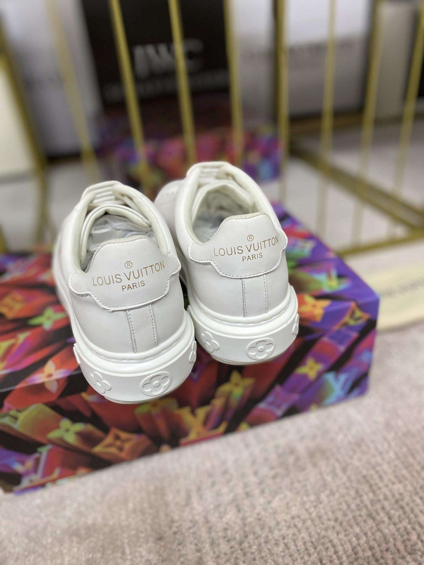 长期做货lv家驴牌厚底小白鞋系列情侣
