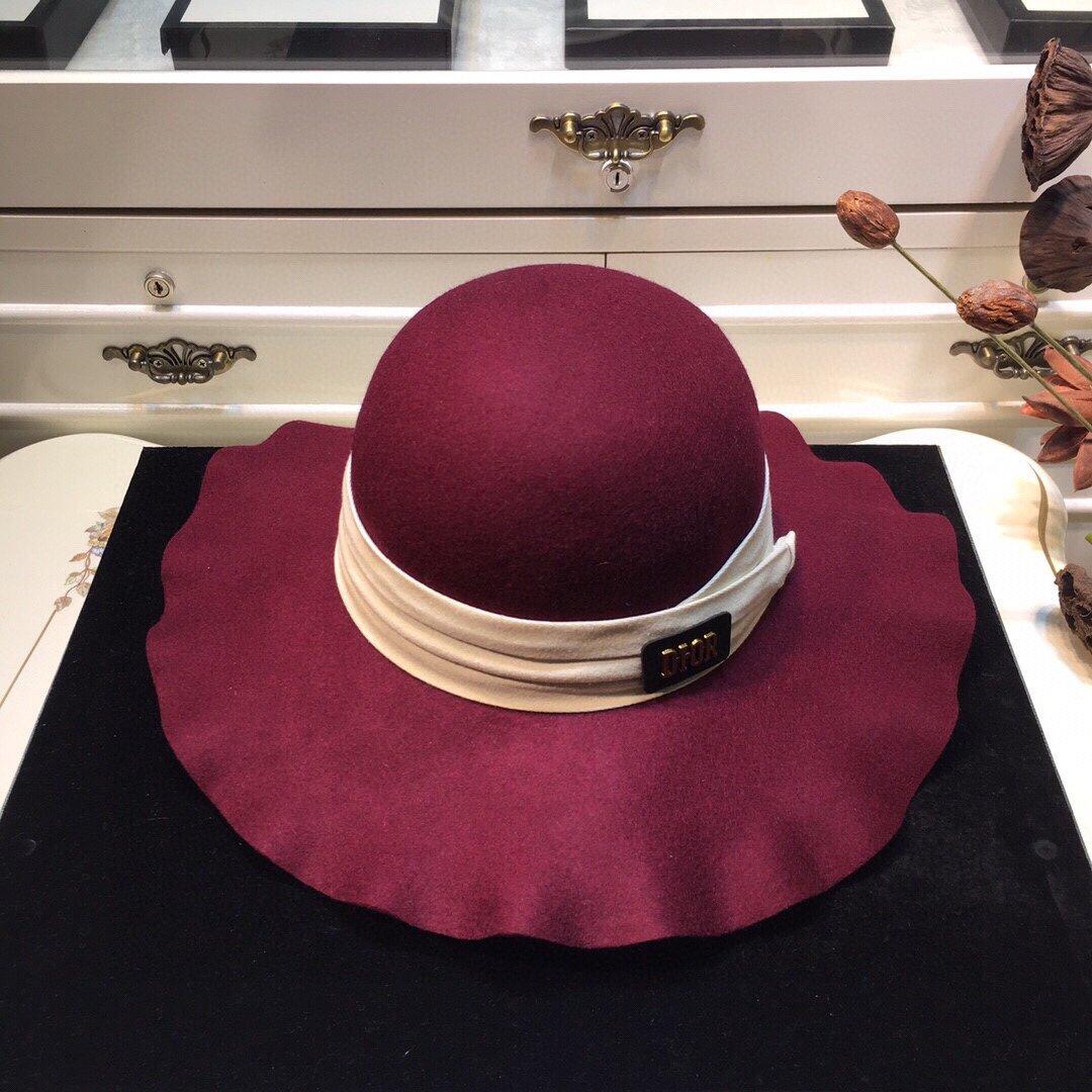 上新Dior迪奥羊毛波浪礼帽百搭时尚