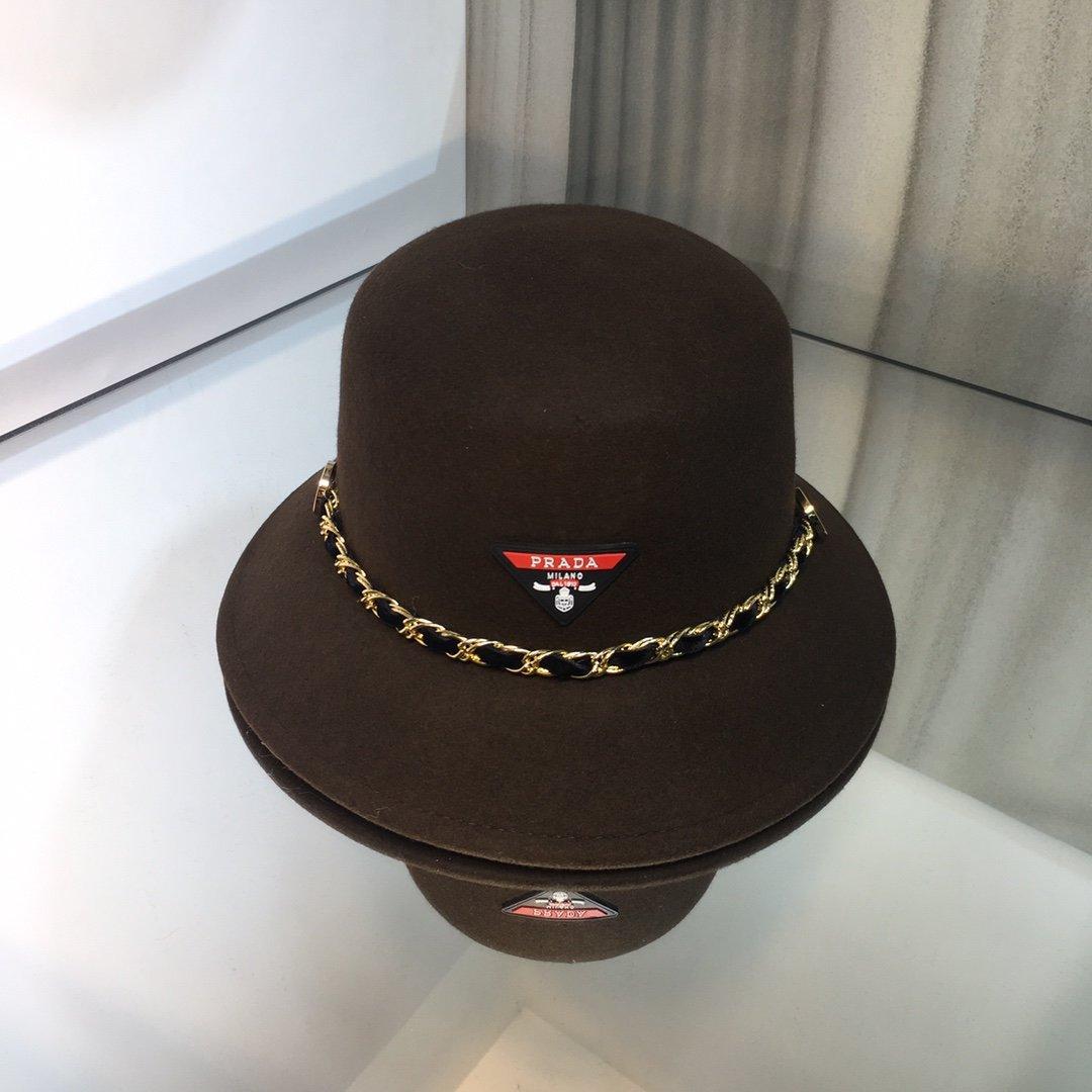 上新普拉达PRADA原单品质羊毛礼帽