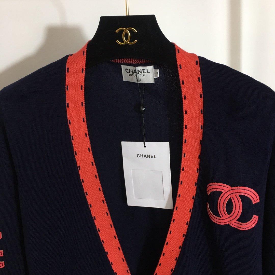 Chanel新款小香logo拼皮刺绣