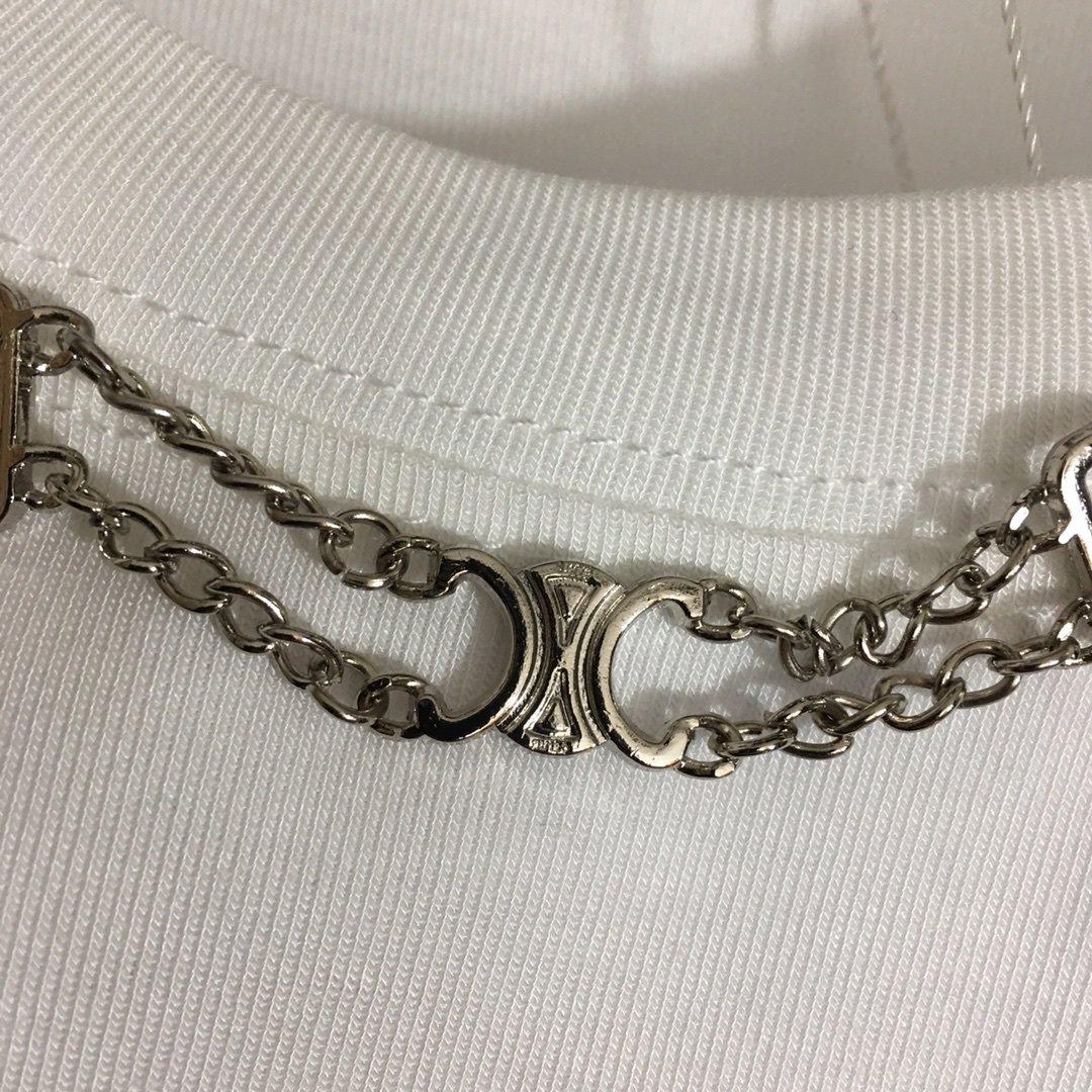 Celine新款金属链条纯棉百搭长袖