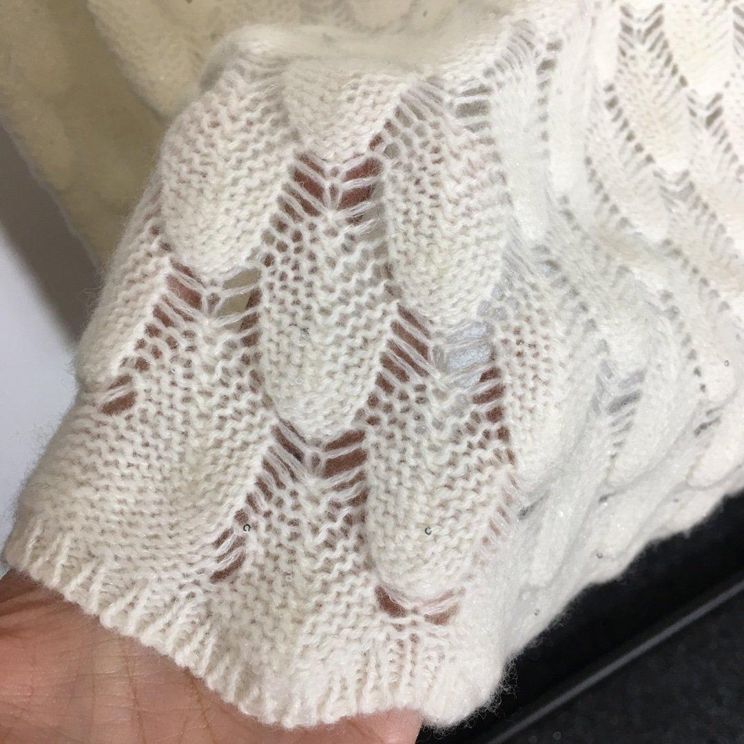 Dior新款羽毛设计镂空羊毛珠片纱针