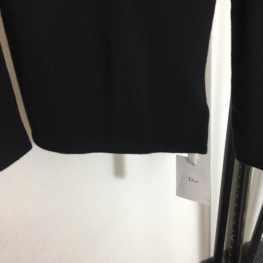 Dior新款蕾丝羽毛网纱拼接00%羊