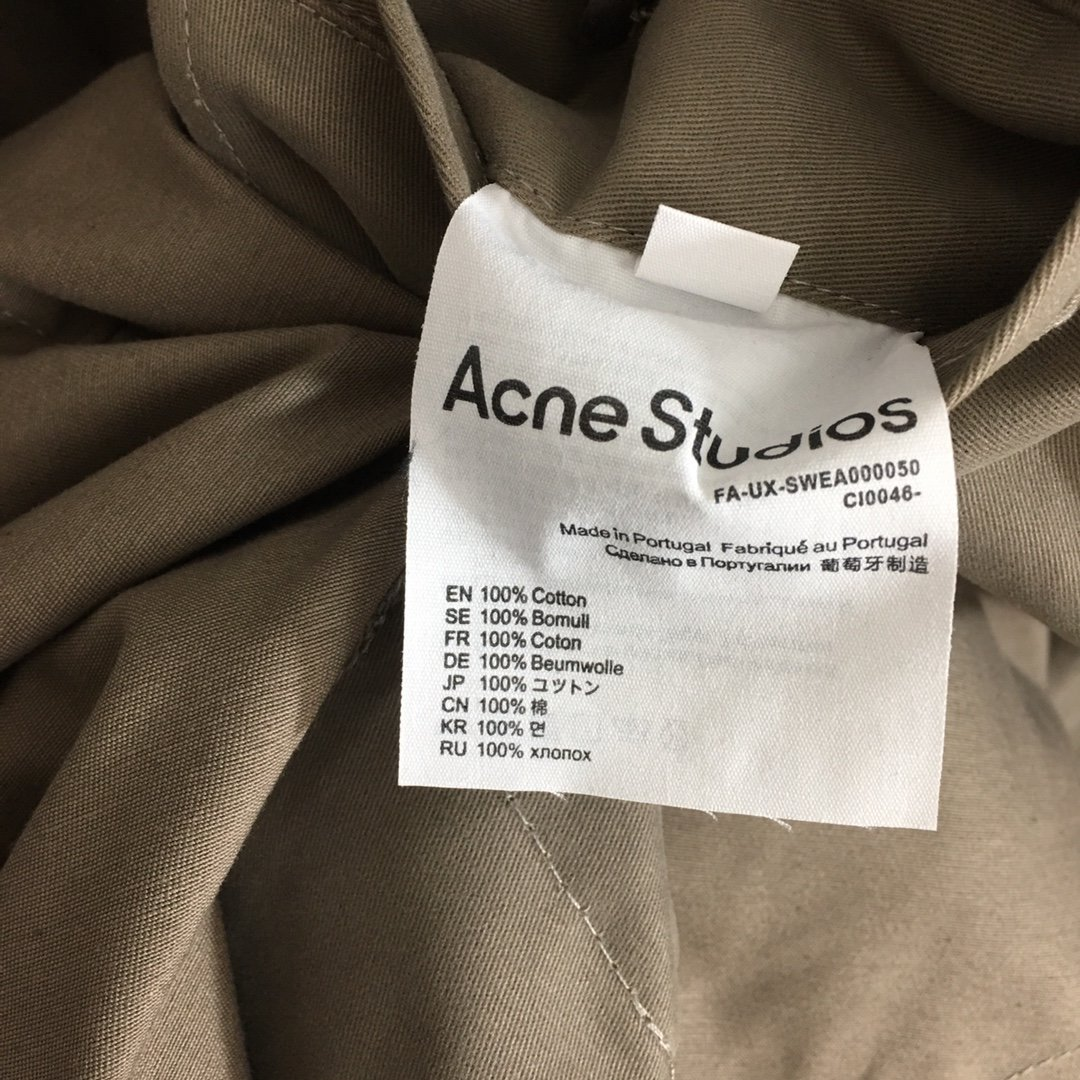 AcneStudios新款时尚双排扣