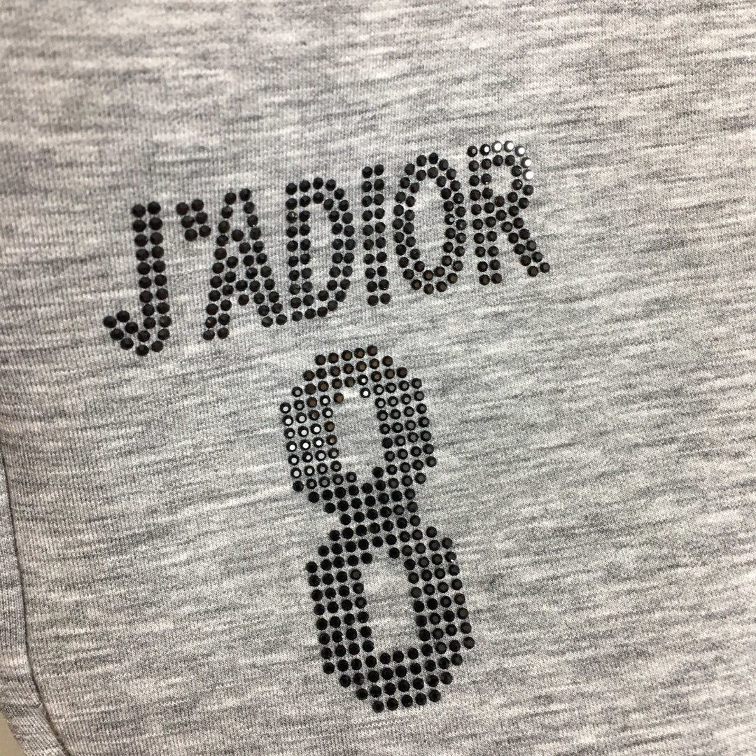 Dior新款JADIO烫钻字母太空棉